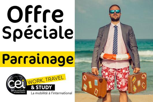 Offre spéciale témoignage CEI Work Travel and Study